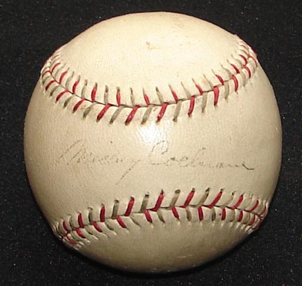 1930's Mickey Cochrane and Frank Navin Signed Baseball (JSA)