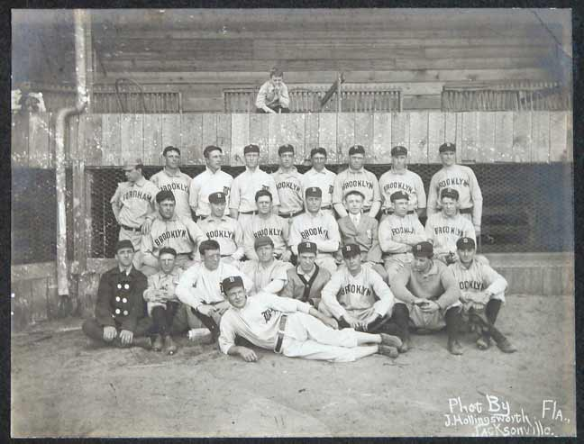 Superb 1907 Brooklyn Superbas Baseball Team Cabinet Photo (PSA/DNA Type 1)
